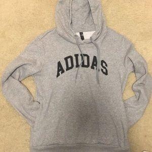 Grey Adidas Sweatshirt (Women's Medium)